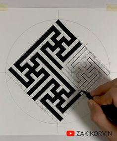Geometry Book, Sacred Geometry Art, Geometric Drawing, Geometric Art, Illusion Drawings, String Art Tutorials, Zen Art, Galaxy Art, Zen Doodle