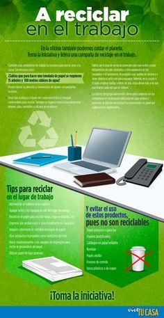 A reciclar en el trabajo #Infografía