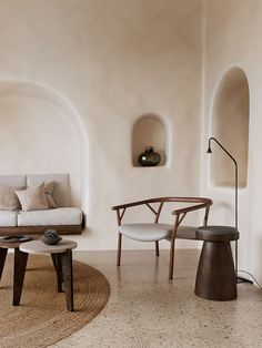 interior design + inspiration + home + style + Vora Villas Interior Minimalista, Interior Design Minimalist, Minimalist Home, Design Living Room, Living Room Decor, Living Rooms, Design Bedroom, Bedroom Decor, Tadelakt
