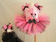 Minnie Mouse tutu! Daughters first Birthday theme:-)