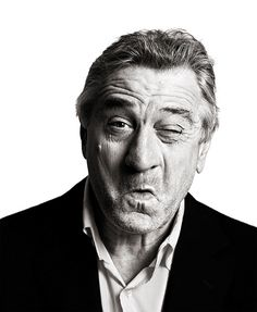 """I asked him if he minded people trying to impersonate him. This shot is De Niro doing an impersonation of Al Pacino doing an impersonation of De Niro"" ~ Andy Gotts"
