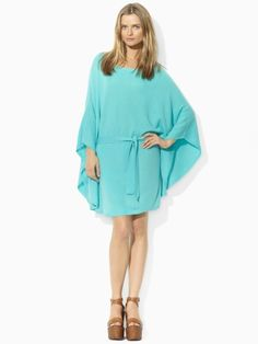 Ralph Lauren Cashmere Poncho Dress.
