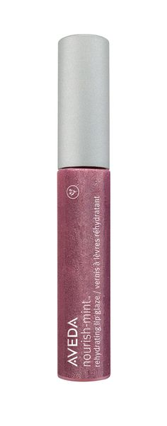 Nourish-Mint Rehydrating Lip Glaze in Pink Clover is a flattering mauve-pink with subtle shimmer to help make your lips look fuller and plumper.
