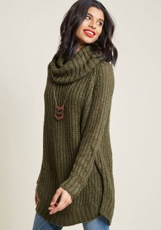 Homecoming  Round the Mountain Sweater in Moss in 2X be80e0367