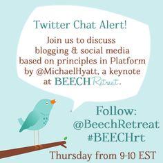 BEECH Retreat Twitter Chat Thursdays at 9 ET {#BEECHrt @BEECHRetreat}