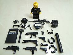 Details about custom swat team helmet weapson gun police army parts for lego - コンセプトアート - Lego