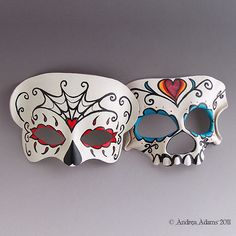 I love these sugar skull masks!
