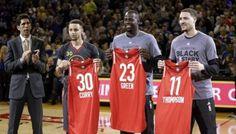 NWT GOLDEN STATE WARRIORS ALL STAR ADIDAS JERSEY STEPHEN CURRY 2016 MVP NBA XL #adidas #GoldenStateWarriors