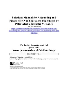 Pin by kimberly dunn on mclaney pinterest main street solutions manual for accounting and finance for non specialists 6th edition by atrill and mclaney fandeluxe Choice Image