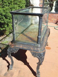 Fiske Cast Iron Antique Aquarium or Fish Tank 7 More