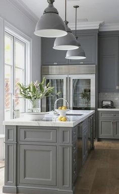 #homedecor #kitchenideas #inspiration | pained cabinets, these are little too dark — Houzz
