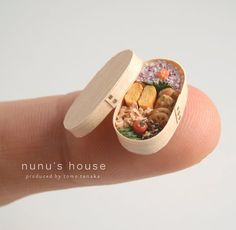 Miniature magewappa bentō (lunch box) from Nunu's House, Japan. *Magewappa (lit. bent woodware) is Japan's traditional wood craft that needs a lot of craftsmanship and care. Made with hand-thinned cedar trees.