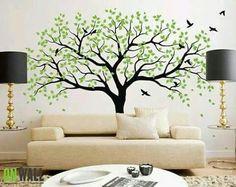 Resultado de imagen para pinturas en paredes de arboles