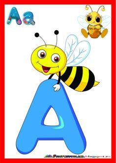 SET de Planse colorate cu litere pentru clasa :: Fise de lucru - gradinita