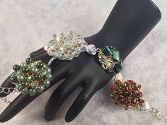 UpCycled Vintage Jewelry Bracelet 5 by WhimsicalAddictions on Etsy