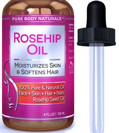 Rosehip Oil Facial Oil for Face, Nails, Hair and Skin, Rosehip Seed Oil by Pure Body Naturals, 4 Fl. Best Moisturiser For Face, Best Moisturizer, Organic Rosehip Oil, Rosehip Seed Oil, Best Face Products, Pure Products, Facial Products, Health Products, Hair Products