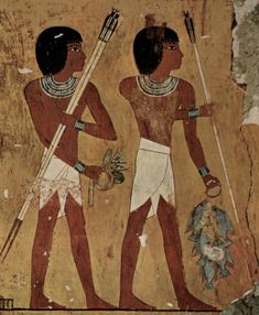 Garment POV Geography - Working class men and servants in Ancient Egypt wore loincloth in order to perform labor in Egypt's hot climate.