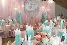 Affaire at Tiffany's (I know this is not a birthday party but scaled down - a lot - it has some amazing ideas that could be used at a Breakfast At Tiffany's Birthday Party.