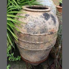 ANTIQUE STORAGE JAR to convert to water butt
