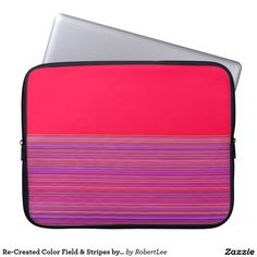 Re-Created Color Field & Stripes by Robert S. Lee Laptop Computer Sleeve #Robert #Lee #art #Neoprene #Laptop #Sleeve #graphic #design #colors #sleeve #electronics #tech #laptop #mac #apple #girls #boys #men #women #ladies #style #for #her #him #gift #want #need #love #customizable