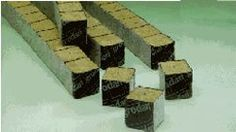 Grodan Rockwool Cubes (1.5 Inches) 45 Per Pack by Grodon. $12.75. Provides 20% air space when saturated. Does not contain nutrients. An inorganic and sterile growing medium made from spun molten rock. A superior medium for rooting cuttings. Condition by soaking for eight hours. Three strips of 15 wrapped Mini-Blocks - 45 total blocks each measuring 1.5 in. square.