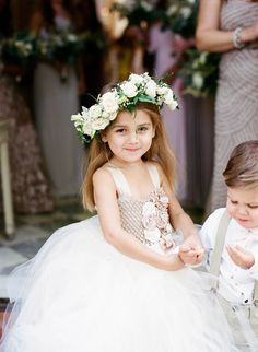 Flower Girl with a cute flower crown
