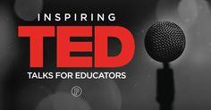 5 Inspiring TED Talks for Educators Ted Talks For Teachers, Grow Up Already, Teacher Inspiration, Teacher Hacks, Inspire Others, Educational Technology, Teacher Resources, Growing Up, Students