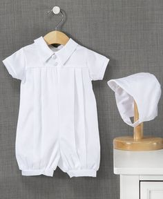 Lauren Madison Outfit, Baby Boys Christening Romper
