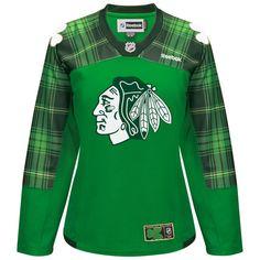 WOMEN S CHICAGO BLACKHAWKS GREEN ST. PATRICK S DAY TARTAN REPLICA JERSEY Nhl  Boston Bruins 98185eac6