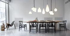 Inspiration Carl Hansen & Son; Shell Chair (CH07) + Wishbone Chair (CH24) + CH339