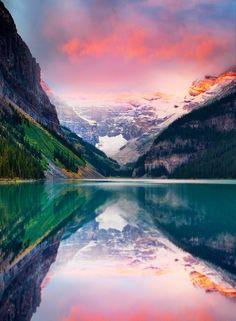 Lake Louise, Alberta, Canada. #budgettravel #travel #color