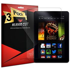 KlearCut [3 Pack] - Screen Protector for Amazon Kindle Fire HDX 7 - Lifetime Replacement Warranty Anti-Bubble & Anti-Fingerprint High Definition (HD) Clear Premium PET Cover - Retail Packaging Reviews - http://www.knockoffrate.com/cell-phones-accessories/klearcut-3-pack-screen-protector-for-amazon-kindle-fire-hdx-7-lifetime-replacement-warranty-anti-bubble-anti-fingerprint-high-definition-hd-clear-premium-pet-cover-retail-packaging-rev/