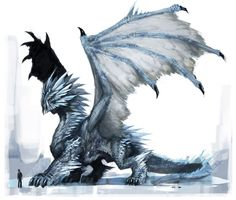 This is how you ice dragon. Magical Creatures, Fantasy Creatures, Fantasy Dragon, Fantasy Art, Ice Dragon, Cool Dragons, Dragon Artwork, Susanoo, Dragon Rider