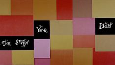"Saul Bass title sequence for Billy Wilder's  ""The Seven Year Itch"" (1955)"