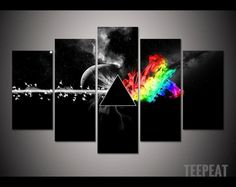 Pink Floyd - The Dark Side of the Moon 5 Pc Canvas Painting