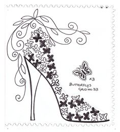 Zapato de mariposas