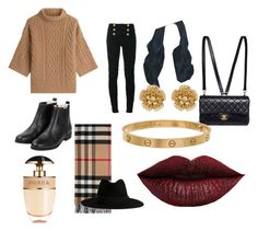 """Cold days"" by danieladuran-1 on Polyvore featuring moda, MaxMara, Balmain, Chanel, Prada, Cartier, Miriam Haskell, LASplash, Burberry y Yves Saint Laurent"