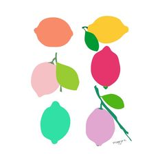 Colorful Lemon Print - Unique Modern Furniture - Dot & Bo