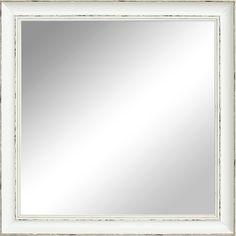 Lilian Mirror. Antique white