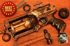 Spirograph 158683: Steampunk Revolver Gun Pistol Cosplay Comic Con Nerf -> BUY IT NOW ONLY: $109 on eBay!