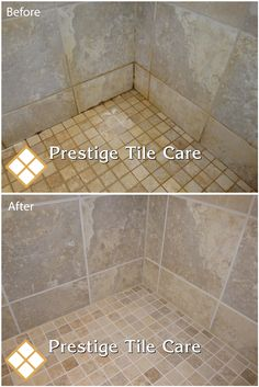 Delicieux Cleaning And Colorsealing Grout On A Tile Shower Floor And Walls
