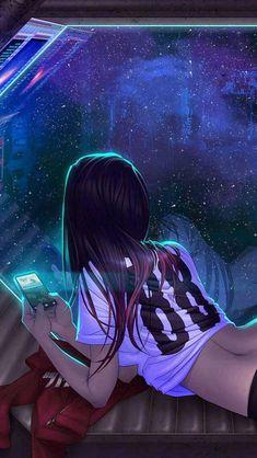 futuristic girl, shadowrun art things animasjon, cyberpunk og a Digital Art Girl, Digital Art Anime, Manga Art, Anime Art, Manga Anime, Henna Tattoo Muster, Anime Kunst, Shadowrun, Anime Characters