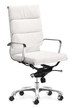Nice Fancy Modern White Office Chair On Home Designing