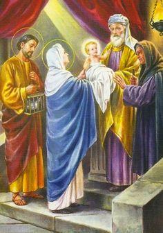 Sancta Mater Dei: LA PRESENTACIÓN DEL NIÑO JESÚS EN EL TEMPLO Y LA P...