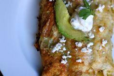 chile verde chicken enchiladas