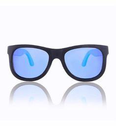 7b8d24c9c28211 vanHout Zonnebrillen Wooden Sunglass Blue Denver Slim Zwart