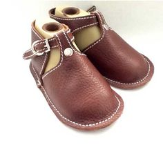 NYC-Made Chocolate Brown Baby Shoe with Buckle