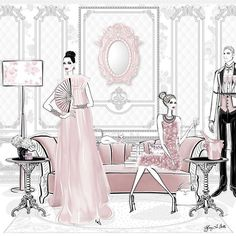 Mirror, Mirror, on the wall, who's the fairest of them all? ... Tiffany La Belle Art & Illustration ... #valentino #couturecatwalk #coutureweek #hautecouturedress #hautecoutureweek #hautecoutureparis #hautecoutureshow #fashionlover #styleblogger
