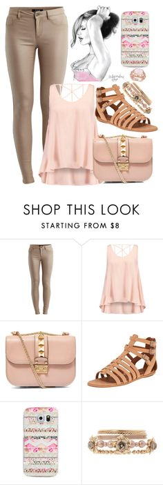 """a whole lotta love"" by haileyymadisonnn ❤ liked on Polyvore featuring VILA, Glamorous, Valentino, Gentle Souls, Casetify and Allurez"