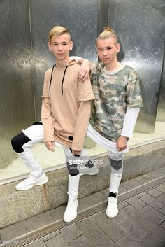 Norwegian twin brothers pop duo and teen stars Marcus & Martinus Photo Session on June 6, 2017 in Berlin, Germany.